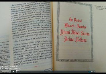 Risale Dersi 247: Asâ-yı musa 66 11.Hüccet-i İmaniye 1